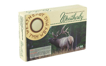Weatherby Hunting Ammunition, 7MM Weatherby, 154 Grain, Soft Point, Spire Point, 20 Round Box H7MM154SP, UPC :747115010325