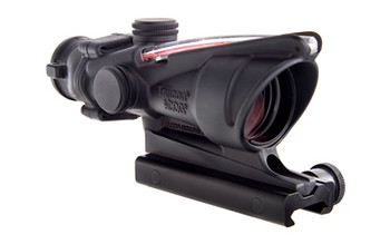 Trijicon ACOG Rifle Scope, 4X32, Red Chevron Reticle, Includes Flattop Mount, Matte Finish TA31F, UPC :719307300095
