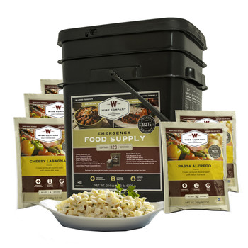 Wise Company 25 Year Shelf Life, 120 Serving, Bucket, Grab  Go, ENTREE ONLY, Long Term Food 01-120, UPC : 094922068545