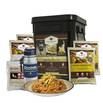 Wise Company 72 Servings Bucket Grab  Go 72HR ULTIMATE KIT 05-715 Long Term Food, UPC :851238005295