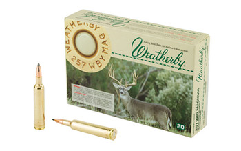 Weatherby Select Plus Ammunition, 257 Weatherby, 120 Grain, Nosler Partition, 20 Round Box N257120PT, UPC :747115020225