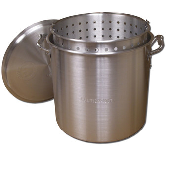 King Kooker #KK32-32 Qt. Aluminum Pot with Basket and Lid, UPC : 081795002325