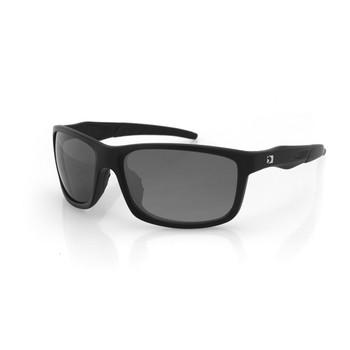 Bobster Virtue Sunglass-Matte Black Frame-Anti-fog Smoked, UPC :642608047195