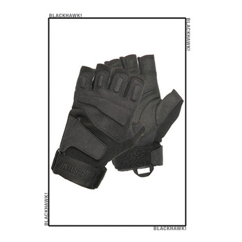 Blackhawk S.O.L.A.G Half-Finger Gloves Black Large, UPC :648018054655