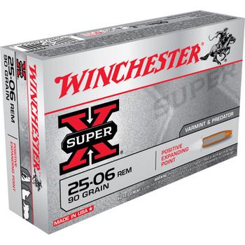 CASE OF 10 SUPER-X 25-06 REM 90GR POS EP 20/BX, UPC : 020892200555