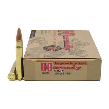 Hornady Custom Ammunition 9.3x62mm Mauser 286 Grain Spire Point Recoil Proof Box of 20, UPC : 090255823035