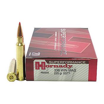 Hornady Superformance SST Ammunition 338 Winchester Magnum 225 Grain SST Box of 20, UPC : 090255822335