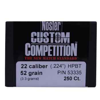 22 Cal 52gr CustCmp HPBT (250 ct), UPC : 054041533355
