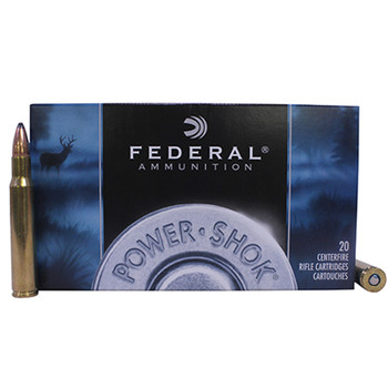 Federal Power-Shok Ammunition 30-06 Springfield 125 Grain Speer Hot-Cor Soft Point Box of 20, UPC : 029465091385