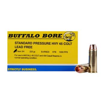 Buffalo Bore Ammunition 45 Colt (Long Colt) 225 Grain Barnes XPB Hollow Point Lead-Free Box of 20, UPC :651815003245