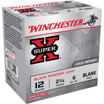 CASE OF 10 SUPR-X BLK PWDR 12GA 2.75IN BLANK 25/BX, UPC : 020892004245