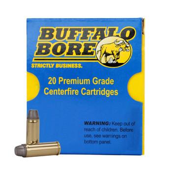 Buffalo Bore Ammunition Outdoorsman 357 Magnum 180 Grain Lead Flat Nose Gas Check Box of 20, UPC :651815019215
