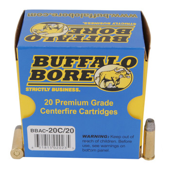 Buffalo Bore Ammunition 38 Special 158 Grain Lead Semi-Wadcutter Hollow Point Box of 20, UPC :651815020235