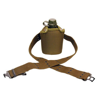 CASE OF 6 CANTEEN W/BELT - POLY - CANV COVER - 1QT, UPC : 049794163805