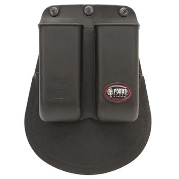 Fobus Paddle Double Magazine Pouch Single Stack 22, 380 and 32 ACP Magazine Polymer Black, UPC :676315007715