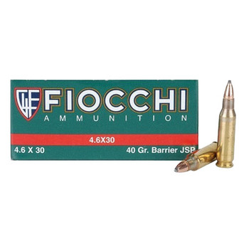 Fiocchi Ammunition 4.6x30mm HK 40 Grain Barrier Soft Point Box of 50, UPC :762344706085