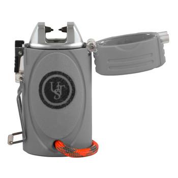 UST TekFire LED Fuel-Free WindProof Electronic Lighter Gray, UPC :815608024255