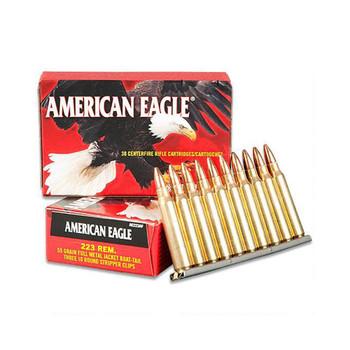 CASE OF 30 AMER EAGLE 223 REM 55GR FMJBT 30RD/BX, UPC : 029465060725