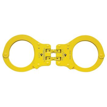 850CY Colored Hinged Handcuff, Yellow, UPC :817086010195