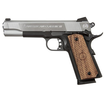 "American Classic 1911, Full Size, 45ACP, 5"" Barrel, Duo Tone Finish, Wood Grips, Fixed Sights, 1 Magazine, 8 Rounds AC45G2DT, UPC :728028155723"