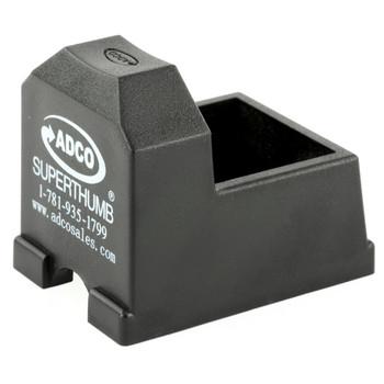 ADCO Super Thumb, Mag Loader, Black Finish, Fits 10/22 High Capacity Magazines ST4, UPC :733315010043