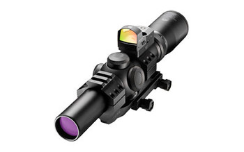 Burris Fullfield TAC30 Rifle Scope, 1-4X24, 30mm Ballistic CQ 5.56 Illuminated Reticle, comes with FastFire II & P.E.P.R. Mount, Matte Finish 200433-FF, UPC : 000381043313