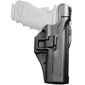 BLACKHAWK! Level 2 Duty SERPA Belt Holster, Fits Glock 17/19/22/23/31/32, Right Hand, Black 44H000BK-R, UPC :648018032493