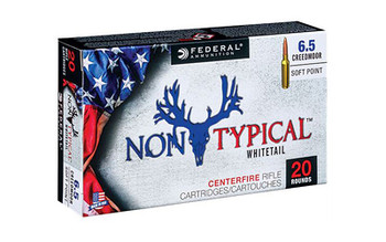 Federal Non Typical, 6.5 CREEDMOOR, 140Gr, Soft Point, 20 Round Box 65CDT1, UPC :604544627343
