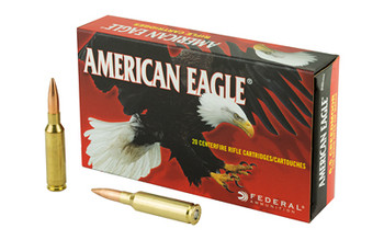Federal American Eagle, 6.5 CREEDMOOR, 120 Grain, Open Tip Match, 20 Round Box AE65CRD2, UPC :604544630343