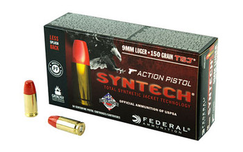 Federal Syntech Action Pistol, 9MM, 150Gr, Total Synthetic Jacket, 50 Round Box AE9SJAP1, UPC :604544624083