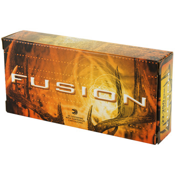 Federal Fusion, 22-250, 55 Grain, Soft Point, 20 Round Box F22250FS1, UPC : 029465061593