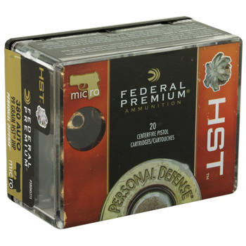 Federal Premium Personal Defense, 380 ACP, 99 Grain, HST, 20 Round Box P380HST1S, UPC : 029465065553