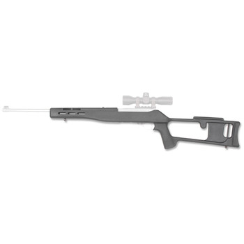 Advanced Technology Stock, Fits Ruger 10/22, Glass Filled Nylon, Thumbhole Stock, Black RUG3000, UPC :758152230003