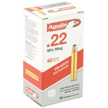 Aguila Ammunition 22WMR, 40 Grain, Soft Point, 50 Round Box 1B222401, UPC :640420001913