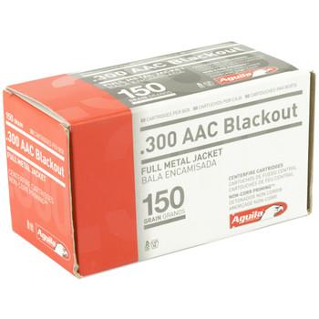 Aguila Ammunition 300 Blackout, 150 Grain, Full Metal Jacket, 50 Round Box 1E300110, UPC :640420003313