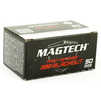 Magtech First Defense, 300 Blackout, 123 Grain, Full Metal Jacket, 50 Round Box 300BLKB, UPC :754908209613