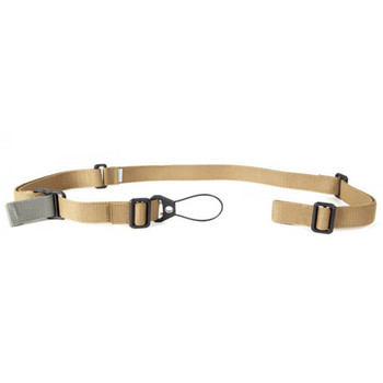 Blue Force Gear Sling, Molded Acetal Adjuster, No Quick Release, Attached with TriGlide instead of Loop Lock, 2-Point Padded Combat Sling, Coyote Brown VCAS-200-OA-CB, UPC :814520015273