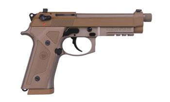 """Beretta M9A3, Semi-automatic, Full, 9MM, 4.9"""", Alloy, Flat Dark Earth, 17Rd, 3 Mags, Ambidextrous, Tritium Night Sights J92M9A3M, UPC : 082442893303"""