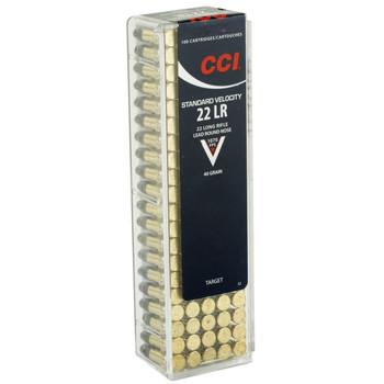 CCI/Speer Standard Velocity, 22LR, 40 Grain, Lead Round Nose, 100 Round Box 32, UPC : 076683000323