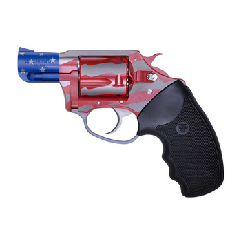 """Charter Arms Old Glory, Revolver, 38 Special, 2"""" Barrel, Steel Frame, Red, White, and Blue Finish, Rubber Grips, Fixed Sights, 5Rd, Fired Case 23872, UPC :678958238723"""