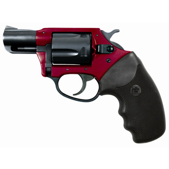 """Charter Arms Undercover, 38 Special, 2"""" Barrel, Aluminum Frame, Red/Black Finish, Rubber Grips, Fixed Sights, 5Rd, Ultra Lite, Fired Case 53824, UPC :678958538243"""