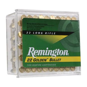 Remington High Velocity, 22LR, 40 Grain, Round Nose, 100 Round Box 21276, UPC : 047700000503