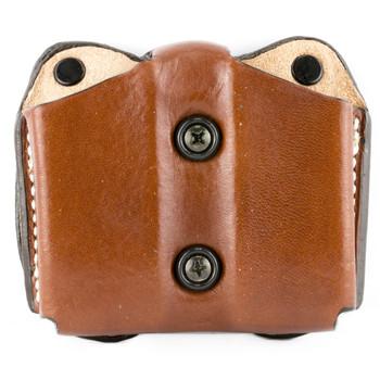Desantis Double Magazine Pouch, Glock 17/22, Ambidextrous, Tan Leather A01TJJJZ0, UPC :792695233633