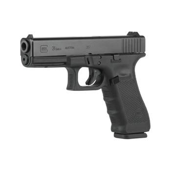 "Glock 31 Gen 4, Safe Action, Full Size Pistol, 357 Sig, 4.48"" Barrel, Polymer Frame, Matte Finish, Fixed Sights, 10Rd, 3 Magazines, Glock OEM Rail PG3150201, UPC :764503702013"