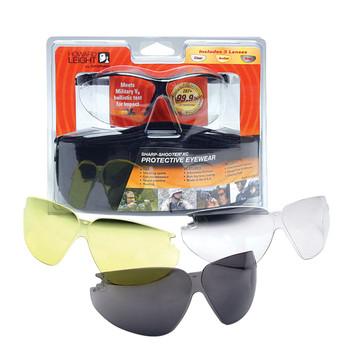 Howard Leight XC Glasses, Black Frame, 3 Lenses R-01637, UPC : 033552016373