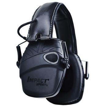 Howard Leight Impact Sport, Electronic Earmuff, Hard Case, AUX Cord, Black R-02601, UPC : 033552026013