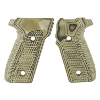 Hogue Grips Extreme G10 Piranha Grip, Fits Sig Sauer P226, Rubber, G-Mascus Green 28138, UPC :743108281383