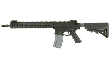 "Knights Armament Company SR-15, E3 Carbine Mod2, Semi-automatic Rifle, 223 Rem/556NATO, 14.5"" Chrome Lined Hammer Forged Barrel, 1:7 Twist, Black Finish, SOPMOD Stock, Upper Receiver Extending Free Floating Barrel System, 30Rd, 2 Stage Match Trigger,"