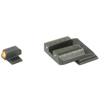 AmeriGlo Spartan Tactical Operator Sights for S&W Shield, Green/Green, ProGlo Front Sight w/ Orange Outline, Pro-Operator Tritium Rear SW-456, UPC :644406907473