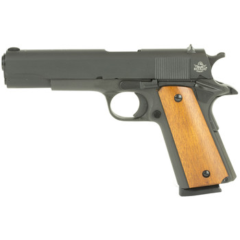 "Armscor Rock Island, 45ACP, 5"" Barrel, Steel Frame, Parkerized Finish, Wood & Rubber Grips, 1 Magazine, 8 Rounds 51421, UPC :4806015514213"